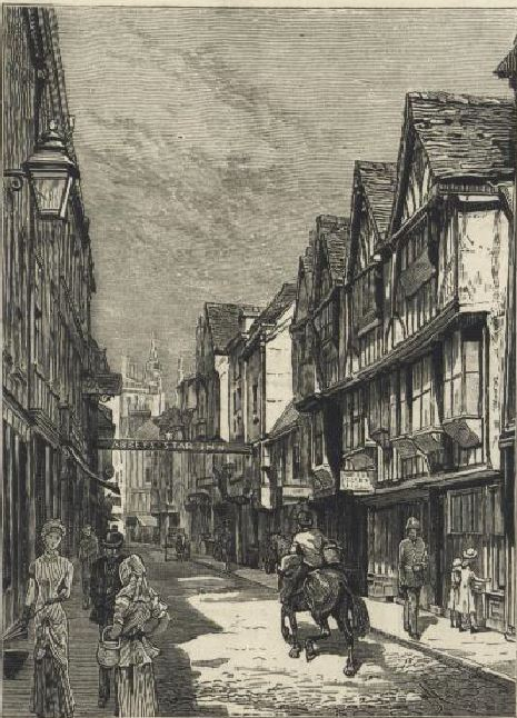 Stonegate, York 1in the 1880s.